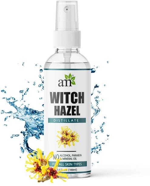 aromamusk 100% Pure & Natural Witch Hazel Distillate Toner and Astringent, ( No Alcohol, Chemical & Paraben Free) Men & Women