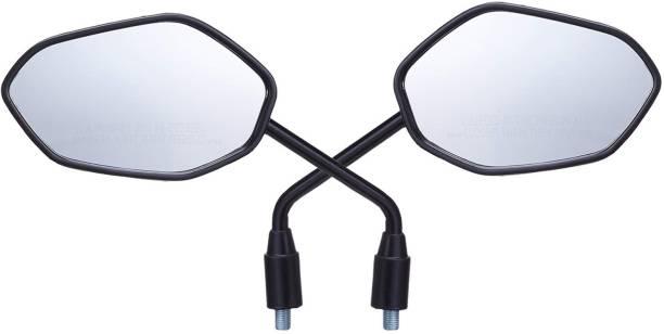 JCTEK Manual Rear View Mirror, Dual Mirror For Universal For Bike Universal For Bike