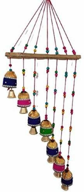 khushbu handicrafts Handmade wind chimes showpiece for home decor and wall decor Wood Windchime