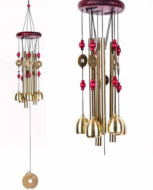 Sanol metal long pipe Wind Chime Metal Hanging Bells Tubes Home Decor for Positive Energy, Dreamcatcher , Hanging Decorative , Windchime Living Room Good Day Luck Balcony Garden Indoor Outdoor with Good Sound Kitchen Pipe Decoration Positivity Bronze, Wood Windchime (28 inch, steel and wood) Steel, Wood Windchime (22 inch, Multicolor) Steel, Iron, Wood Windchime