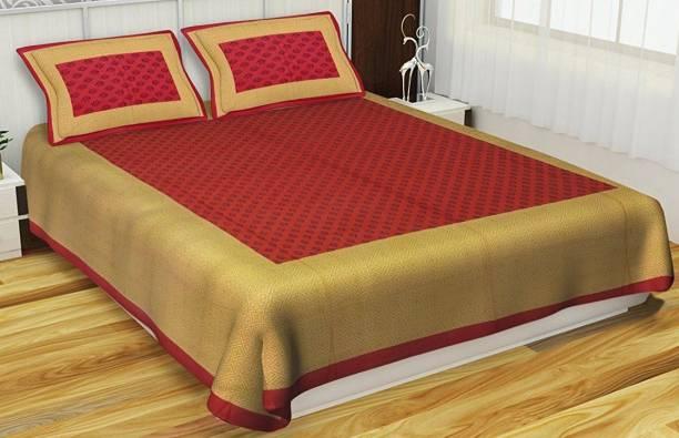 ABHISHEK FASHION 104 TC Cotton Double Jaipuri Prints Bedsheet