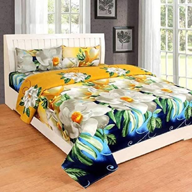 HomeStore-YEP 160 TC Polycotton Double Floral Bedsheet