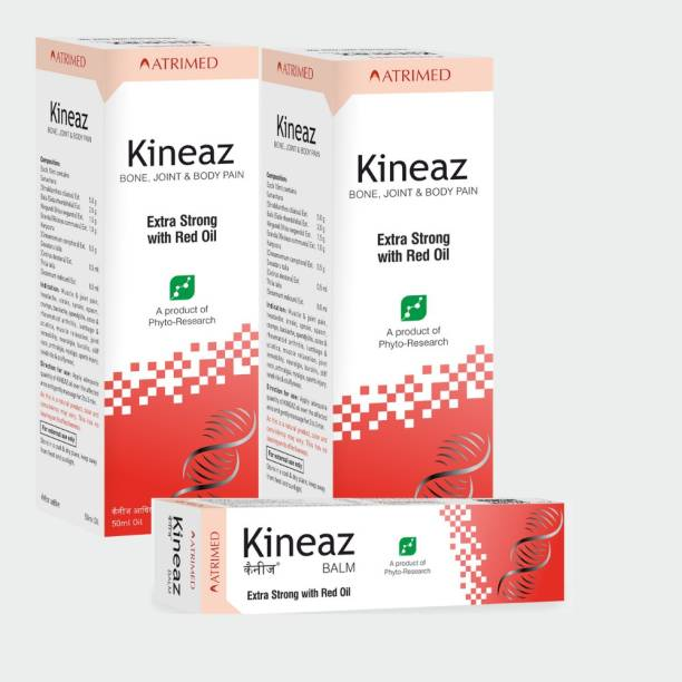 Atrimed Kineaz Liniment & Balm for bone, joint & body pain Combo set(Set of 3) Balm