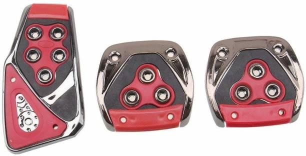 JAINFAM 3 Pcs Sports Anti-Skid Car Pedals (Manual Shift) kit Pad Covers Set (Red Car Pedal