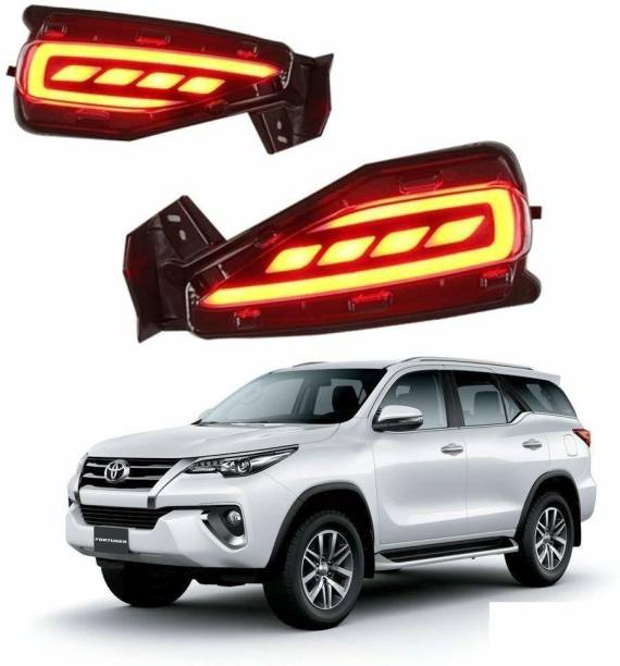 IMMUTABLE Car reflector Led Brake Light for Rear Bumper DRL for Fortuner 2017-2019 Car Reflector Light