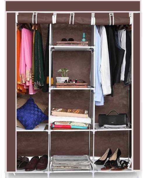 GTC 6+2 Layer Fold able Wardrobe 88130C Carbon Steel Collapsible Wardrobe