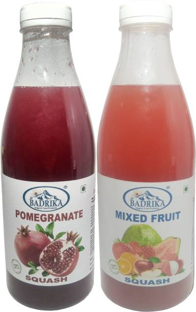 Badrika Pure Natural Pomegranate And Mixed Fruit Refreshing Squash