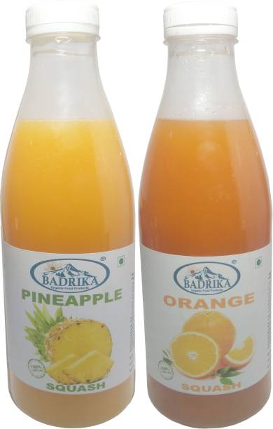 Badrika Pure Natural Pineapple And Orange Refreshing Squash