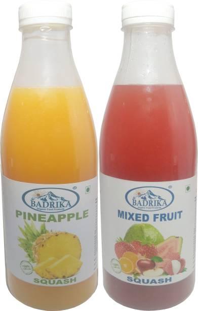 Badrika Pure Natural Pineapple And Mixed Fruits Refreshing Squash