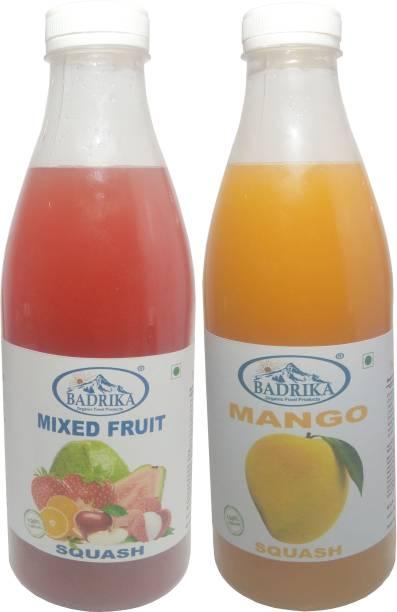 Badrika Pure Natural Mixed Fruit and Mango Refreshing Squash