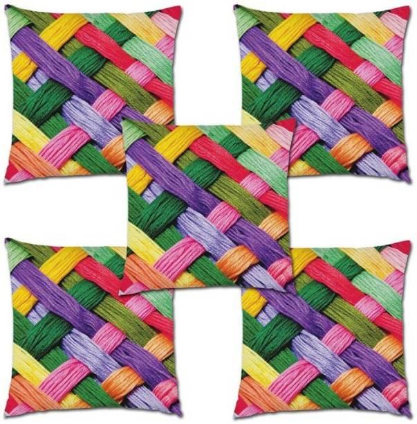 CHHAVI INDIA Checkered Cushions & Pillows Cover