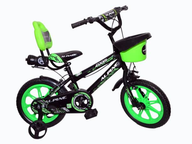 Alpine Bmx Zoom Black green unisex bicycle/cycle for kids 2-5 years 14 T BMX Cycle