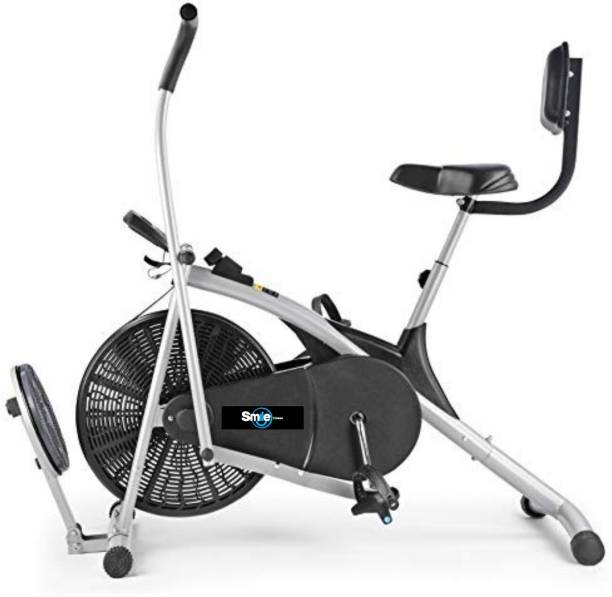 Smile Fitness Air Bike Fitness Exercise Cycle For Home Moving Handles Upright Moving Dual-Action Stationary Exercise Bike