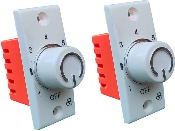 Hiru SWITCH 7 STEP - 2 PCS Fancy FAN REGULATOR for Home & Office Step-Type Button Regulator
