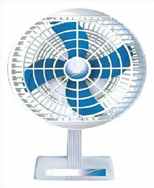 olles || Mini Table Fan || 9 inch || ISI Approved Copper Motor || White || Model - Sweety T- 1 220 mm Energy Saving 4 Blade Table Fan