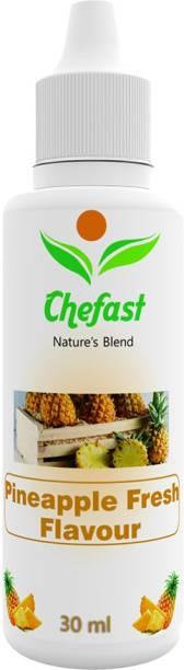 Chefast Pineapple Fresh Flavour Baking Essence for Cake, Ice-Cream, Chocolates, Milkshakes,Indian Sweets Pineapple Liquid Food Essence