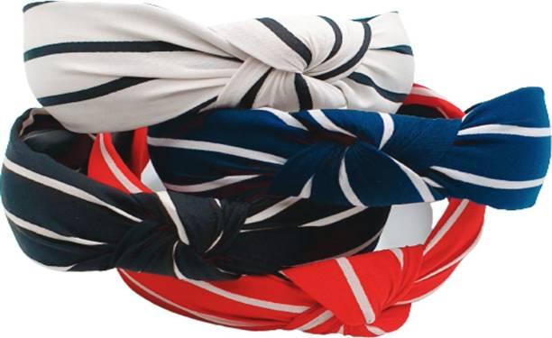 zapt Women Wide Stripes Cloth Cross Knot Hair Hoop Hairband Headband Hair Accessories Hair Band