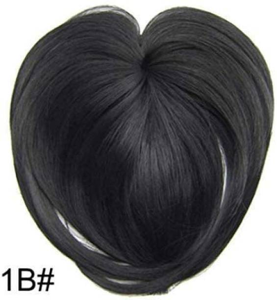 Ritzkart Women Clip-On  Topper Wig, silky Heat Resistant Fiber  Extension for Women,  Crown Toppers for Women Clip Straight  Piece Toupee with Thinning  black Hair Extension