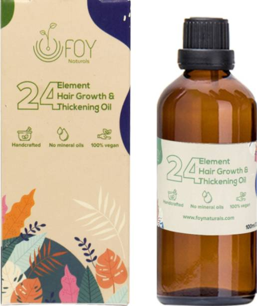 foynaturals 24 Element Hair Growth & Thickening Oil - 100ml | Women & Men | For All Hair Types with Almond, Argan, Onion seed, Vitamin E & Neem Oil | No Mineral Oils, No Parabens, No Silicones Hair Oil