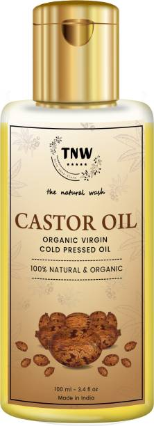 TNW - The Natural Wash Castor Oil Organic Virgin Cold Pressed Oil 100% Natural & Organic Hair Oil