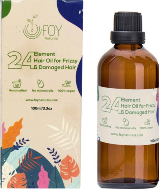 foynaturals 24 Element Hair Oil for Frizzy Damaged Hair- 100ml | Women & Men | For All Hair Types with Macademia, Argan, Almond, Vitamin E & Flaxseed Oil | No Mineral Oils, No Parabens, No Silicones Hair Oil