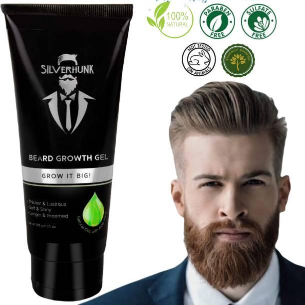 silverhunk Natural Oils With Aloe Vera BEARD GEL For Strong, Healthy And Shiny Beard Growth Beard Gel