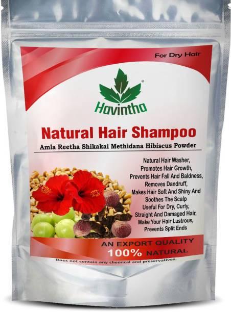 Havintha Natural Amla Reetha Shikakai Methidana And Hibiscus Powder Shampoo for Dry Hair