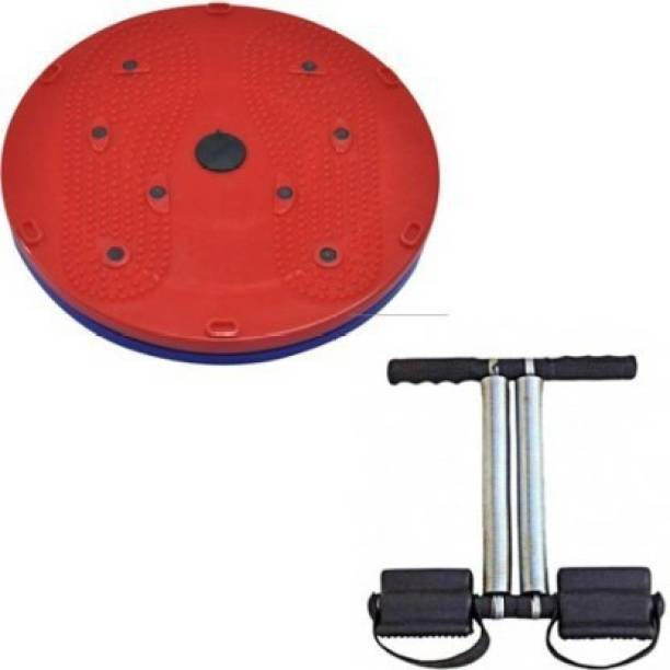 GJSHOP Combo of Tummy Trimmer, Twister for Stretching Toning Exercising Workout itness Equipment at Home Gym Kit Home Gym Kit
