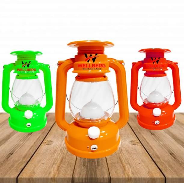 Wellberg WELLBERG SOLOR LALTEN LIGHT LED Multicolour Plastic Table Lantern( Pack of 1) Multicolor Plastic Hanging Lantern