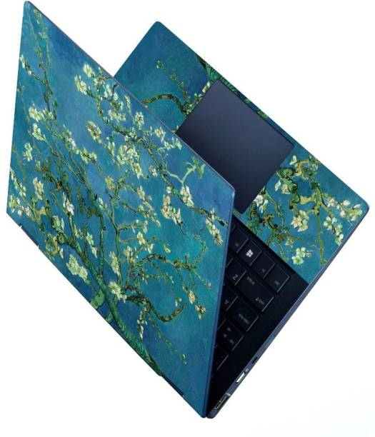 Finest HD Printed Full Panel Laptop Skin Sticker Vinyl Fits Size Upto 15.6 inches No Residue, Bubble Free - Almond Blossom PVC Vinyl Laptop Decal 15.6