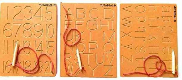 YUTABSAL Writing Practice board Alphabet Capital small and number board