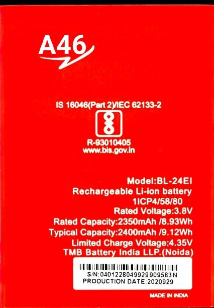 TokTon Mobile Battery For  ITEL A46