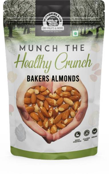 WONDERLAND Foods Slightly Chipped Bakers Almond - Best for Baking Purpose and Soaking Overnight Almonds
