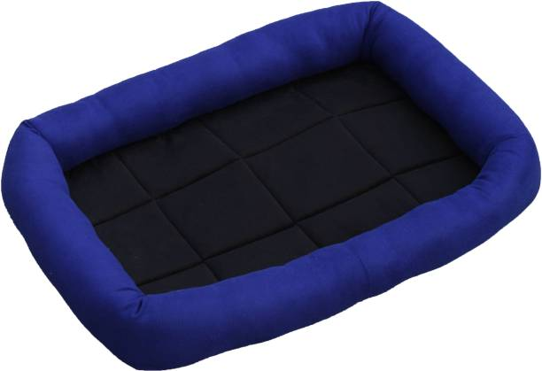VetKart Soft Spongy Flat Pet Bed, Four Side Head Support For Dog and Cat, Easy wash S Pet Bed