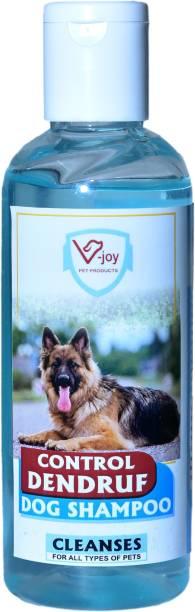 VJOY Liquid Control Dandruff Shampoo for Dogs Makes Coat Soft and Shiny(200 ML) Anti-dandruff, Flea and Tick, Anti-microbial, Anti-itching Pleasent Dog Shampoo