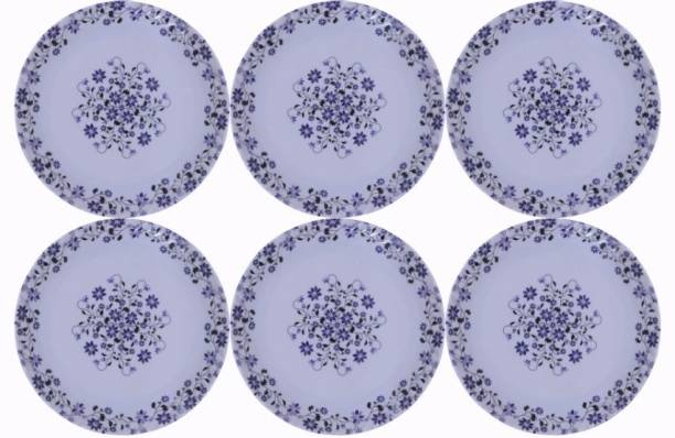 Carnival SMART ROUND (508) 7 INCH HALF DINNER PLATE SET 6 PCS OF MELAMINE Dinner Plate