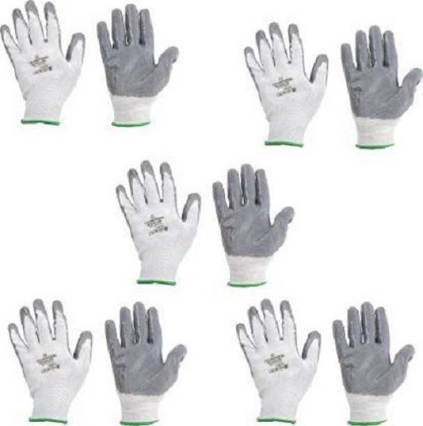 SS&WW SUPERIOR QUALITY ANTI CUT SAFETY HAND GLOVE-19 Nylon, Synthetic, Latex Safety Gloves (10) Latex, Nylon, Synthetic  Safety Gloves