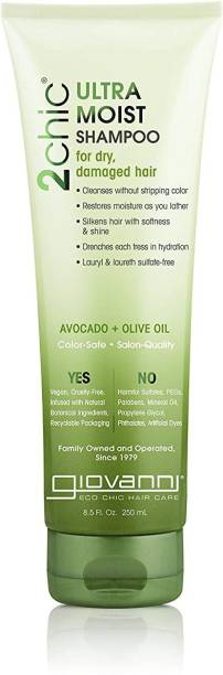 Giovanni Cosmetics 2 Chic Avocado & Olive Oil Ultra Moist Shampoo, 8.5Oz