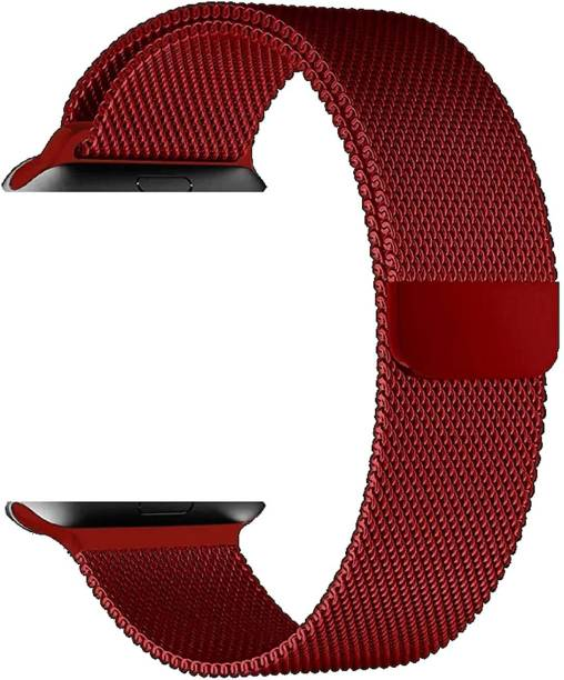 AAVIOS Stainless Steel Milanese Strap Band with Magnetic Closure for iWatch 42mm/44mm, Compatible with Watch Series 1/2/3/4/5 T_42/44mm_Blue (Chain) Smart Watch Strap Smart Watch Strap