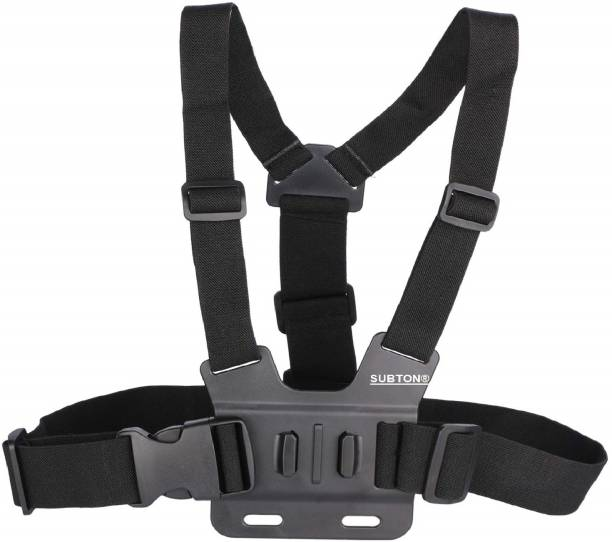 subton Camera Belt/Strap for Shoulder/chest Camera Mounting for Action Cameras GoPros Racing Biking Riding Videos Strap