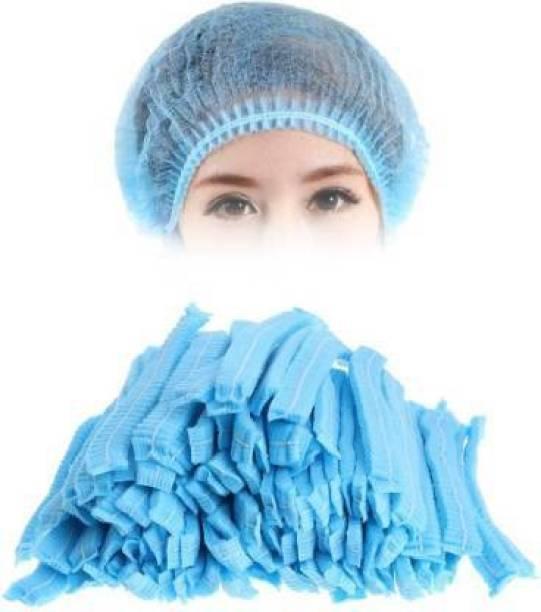 STYLERA Disposable Bouffant cap Pack Of 100 Surgical Head Cap Surgical Head Cap