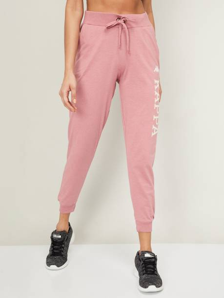 Kappa Printed Women Pink Track Pants