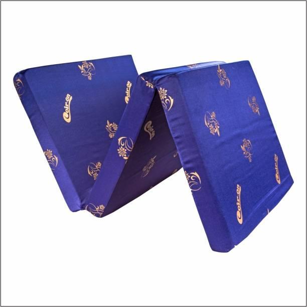 "COIR-ON 3-Fold Hostel Mattress 3 inch Single PU Foam Mattress - 72X36X3"" - Blue 3 inch Single PU Foam Mattress"