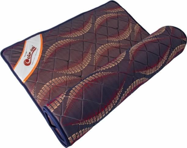 "COIR-ON 'Fluffy' - Reversible Thin Orthopedic Mattress for Sleeping, Travel & Picnic - 72X48X1"" - Blue 1 inch Double PU Foam Mattress"