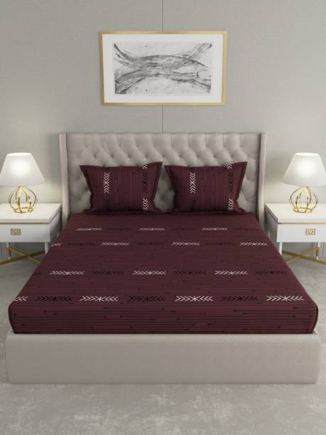 Raymond Home 104 TC Cotton Double Striped Bedsheet