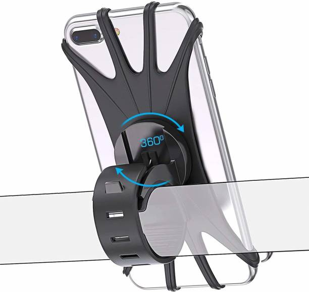 Strauss Silicone 360 degree Rotation Bicycle Phone Holder