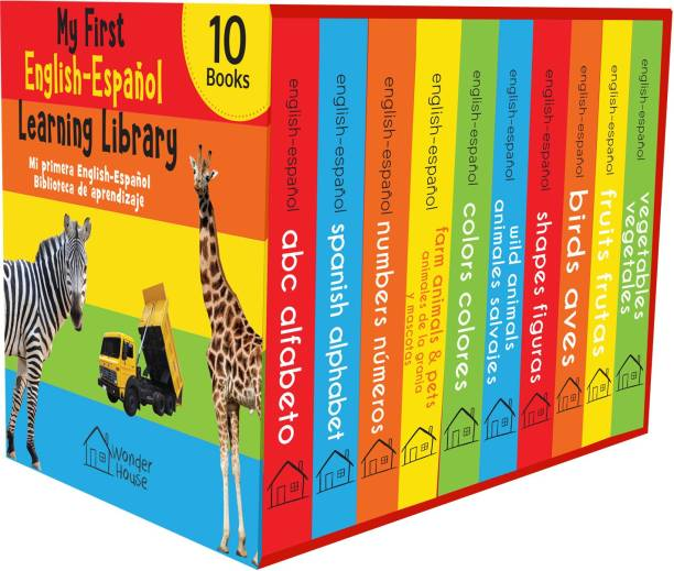 My First English - Espa�ol Learning Library (Mi Primea English - Espa�ol Learning Library) : Boxset of 10 English - Spanish Board Books - By Miss & Chief