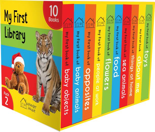 My First Library Pack 2: Boxset of 10 Board Books For Kids - By Miss & Chief