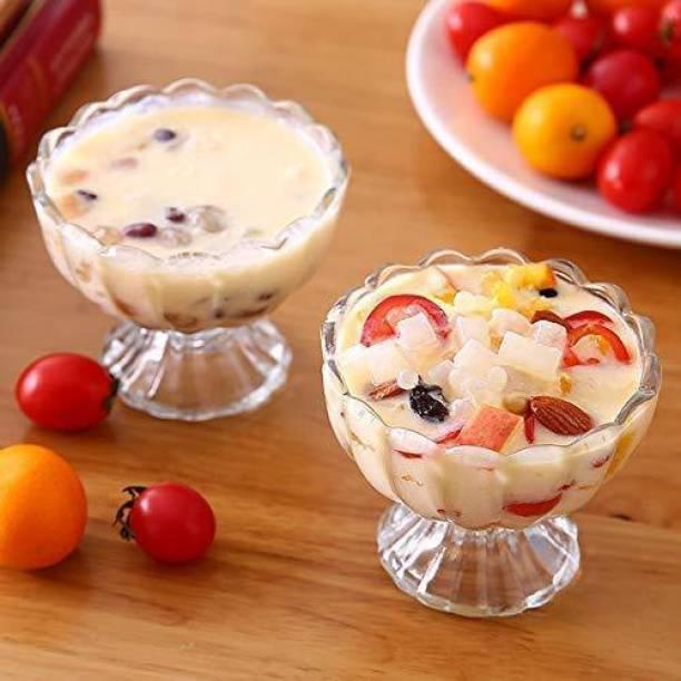 Zylam otak Glassware Ice Cream Bowl, Salad Dessert Serving Bowls, Tableware Set, 120 ml, Crystal Clear (6) Glass Dessert Bowl
