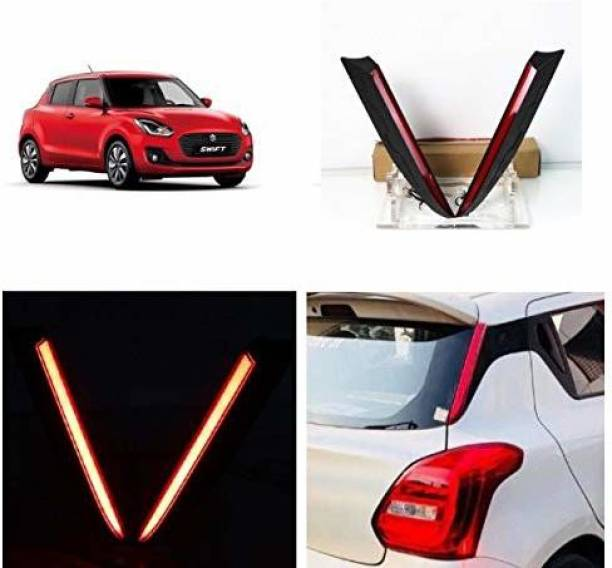 IMMUTABLE Rear Back Pillar Light LED Lamp Reflector Brake Light With Wiring Compatible for Maruti Suzuki Swift 2018 Set of 2Pcs Car Reflector Light